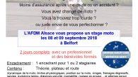 L'AFDM (Association pour la Formation Des Motards) vient de mettre en place de son stage de conduite moto du mois de septembre. Il se déroulera à Belfort (à Andelnans pour […]