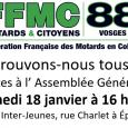 Bonjour à toutes et à tous, Si vous avez adhéré à la FFMC 88 en 2019, vous avez dû recevoir l'invitation à l'Assemblée Générale du 18 janvier 2020 à 16 […]